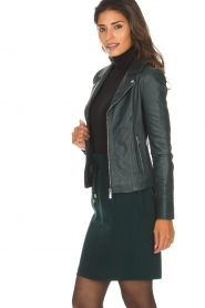 Arma |  Leather biker jacket Kendall | deep teal  | Picture 4