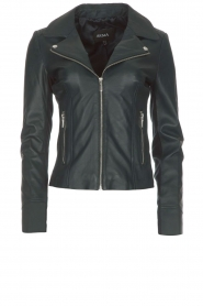 Arma |  Leather biker jacket Kendall | deep teal  | Picture 1