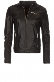 Arma |  Leather jacket Dimaggio | black  | Picture 1
