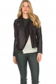Arma |  Leather biker jacket Jessie | black  | Picture 6