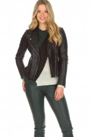 Arma |  Leather biker jacket Jessie | black  | Picture 2