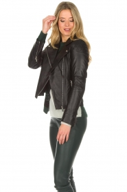 Arma |  Leather biker jacket Jessie | black  | Picture 4
