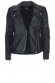 Arma |  Leather biker jacket Jessie | blue  | Picture 1