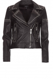 Arma |  Leather biker jacket with studs Jannice | black  | Picture 1