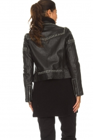 Arma |  Leather biker jacket with studs Jannice | black  | Picture 6