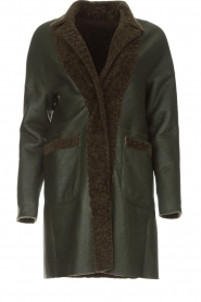 Arma |  Reversible lammy coat Dewi | green  | Picture 1