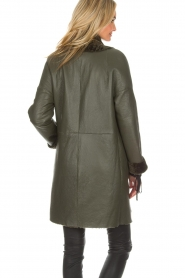Arma |  Reversible lammy coat Dewi | green  | Picture 9