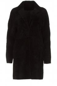 Arma | Omkeerbare lammy coat Dewi | zwart  | Afbeelding 10