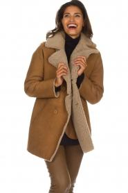 Arma |  Lammy coat Kristina | camel  | Picture 4