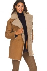 Arma |  Lammy coat Kristina | camel  | Picture 2
