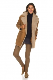 Arma |  Lammy coat Kristina | camel  | Picture 3