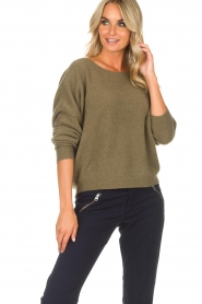 American Vintage |  Sweater Damsville | green  | Picture 2