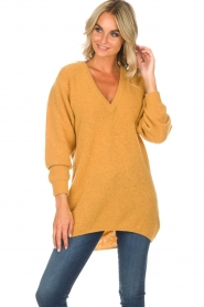 American Vintage |  Sweater Hanapark | yellow  | Picture 2