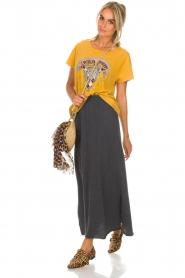American Vintage |  Maxi skirt Toubobeach | grey  | Picture 3