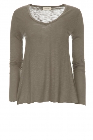 Longsleeve V-neck top Jacksonville | grey