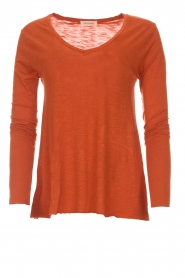 American Vintage |  Longsleeve V-neck top Jacksonville | orange