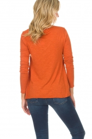 American Vintage |  Longsleeve V-neck top Jacksonville | orange  | Picture 4