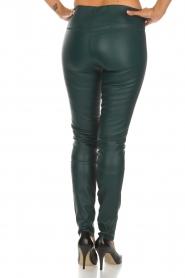 By Malene Birger | Lamersleren legging Elanasio | groen   | Afbeelding 5