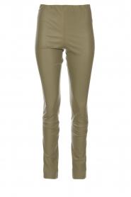 By Malene Birger |  Lamb leather legging Elanasio | green  | Picture 1