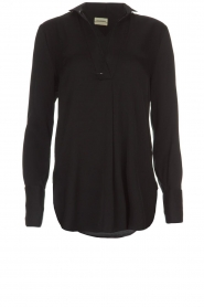 By Malene Birger |  Silk top Ayoh | black  | Picture 1