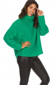 ba&sh |  Turtle neck sweater Emera | green  | Picture 4