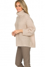 ba&sh |  Turtle neck sweater Emera | natural  | Picture 4