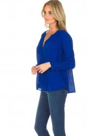 ba&sh |  Blouse with pleat details | blue  | Picture 4