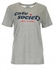 Zoe Karssen | T-shirt Cafe Society | grijs  | Afbeelding 1