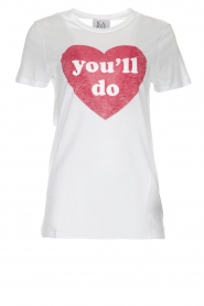 Zoe Karssen | T-shirt You'll Do | wit  | Afbeelding 1