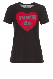 Zoe Karssen | T-shirt You'll Do | zwart