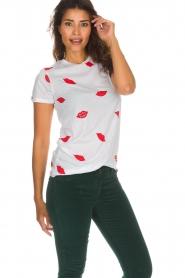 Zoe Karssen |  T-shirt Lips | white  | Picture 4