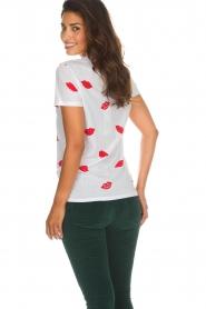 Zoe Karssen |  T-shirt Lips | white  | Picture 6
