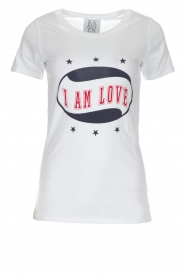 Zoe Karssen | T-shirt I Am Love | wit  | Afbeelding 1