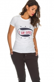 Zoe Karssen | T-shirt I Am Love | wit  | Afbeelding 2