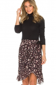 IRO |  Wrap skirt Lingo | black  | Picture 4