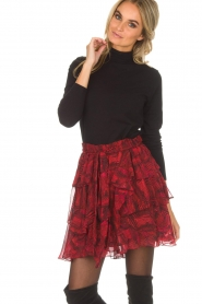 IRO | Skirt with volant Nothing | red  | Picture 2