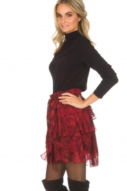 IRO | Skirt with volant Nothing | red  | Picture 4