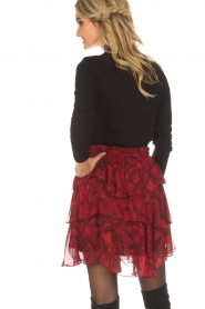 IRO | Skirt with volant Nothing | red  | Picture 5
