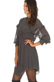 IRO |  Dress with embroidered details Paradiz | grey  | Picture 4