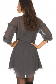IRO |  Dress with embroidered details Paradiz | grey  | Picture 5