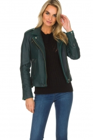 IRO |  Biker jacket Newhan | green  | Picture 3