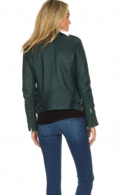 IRO |  Biker jacket Newhan | green  | Picture 5
