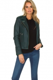 IRO |  Biker jacket Newhan | green  | Picture 2