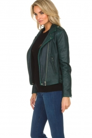 IRO |  Biker jacket Newhan | green  | Picture 4