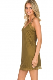 Hanro |  Slip dress Laila | green  | Picture 4