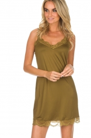Hanro |  Slip dress Laila | green  | Picture 2