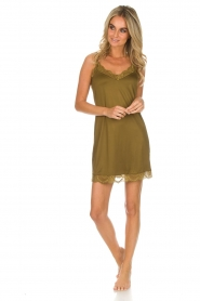 Hanro |  Slip dress Laila | green  | Picture 3