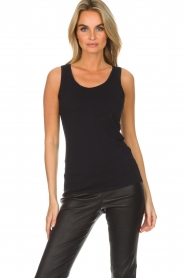 Hanro |  Soft tight top Christine | black  | Picture 2