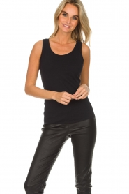 Hanro |  Soft tight top Christine | black  | Picture 3