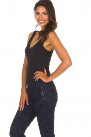 Hanro | Top Cotton Lace | zwart  | Afbeelding 3